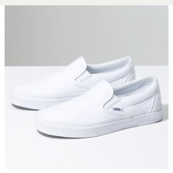 Vans slip ons - white